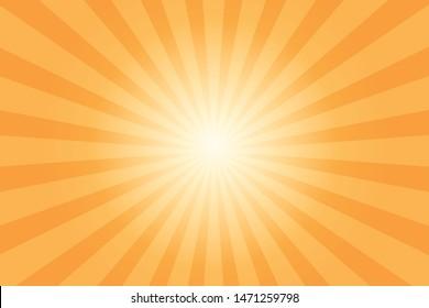 Orange ray star burst background