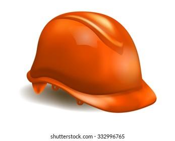 Orange Realistic Hard Cap / Helmet / Safety Equipment