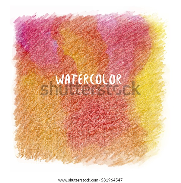 Orange and red pastel tone color vector background look like watercolor pencils drop style. Abstract hand drawn grunge texture
