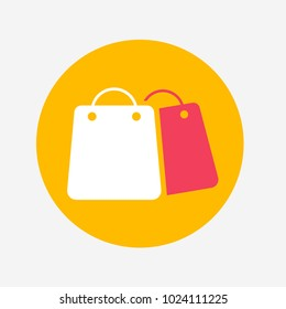 Orange and Red Shopping Vector Icon