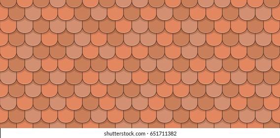 Orange roof tiles seamless pattern