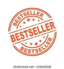 Orange rubber stamp with bestseller concept