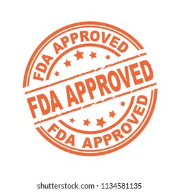 Orange rubber stamp with FDA Approved concept