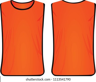 Orange safety vest. vector illustration