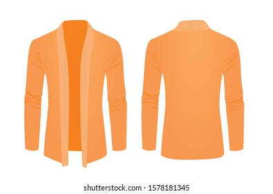 Orange shawl sweater. vector illustration