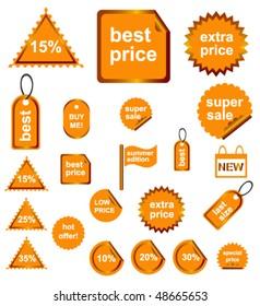 Orange Shopping Signs