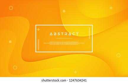 Orange simple texture background. Dynamic 3D background minimal modern concept.