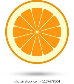 Orange slice. Vector Illustration