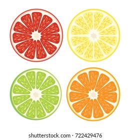 Orange slice vector illustration.