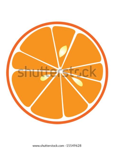 Orange Slice Vector Illustration Stock Vector (Royalty Free