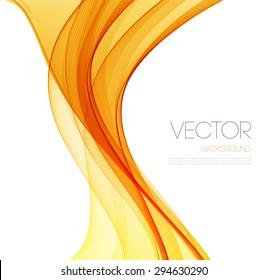 Orange Smooth wave stream line abstract header layout. Vector illustration