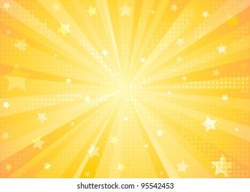 Orange Starburst Background