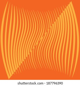 Orange striped background illustration