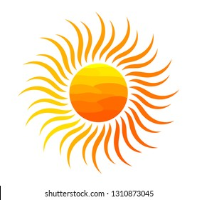Orange sun illustration.