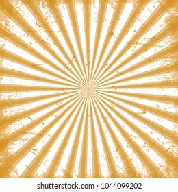 Orange sun rays for web design in web