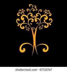 orange Swirl tree