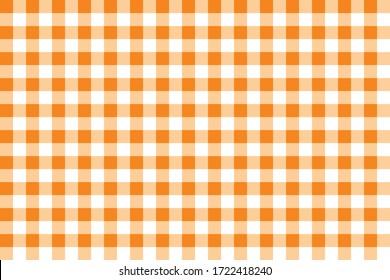 Orange tablecloth vector seamless pattern