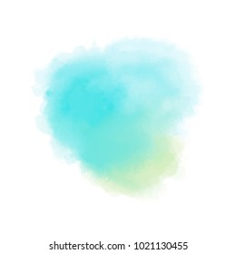 orange and teal watercolor
