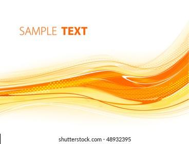 Orange template. Vector