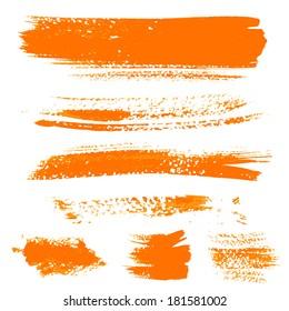 Orange texture dry brush strokes 1