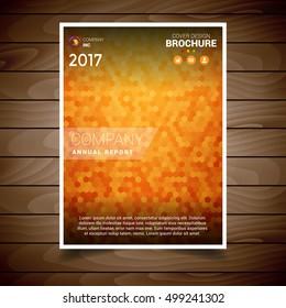 Orange Textured Brochure Design Template