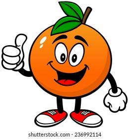Orange with Thumbs Up
