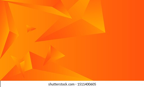 Orange triangle polygon gradient. Element of color vector