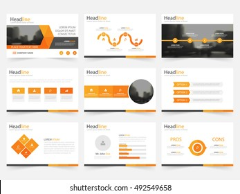 Powerpoint Templates Orange Images Stock Photos Vectors