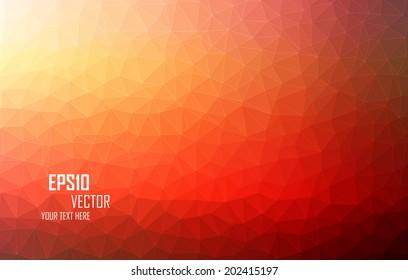 Orange Triangular Abstract Background Eps10 Vector