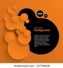 orange vector abstract background composed of overlapping circles