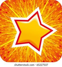 Orange vector Star