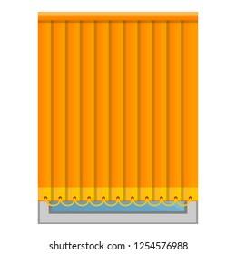 Orange vertical jalousie icon. Cartoon of orange vertical jalousie vector icon for web design isolated on white background