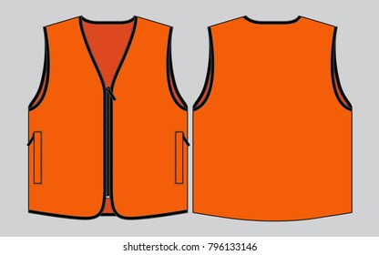 Orange vest tank top for template