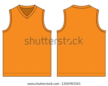 fbf13fb12d3f7b Orange V Neck Tank Top Vector Stock Vector (Royalty Free) 1206983365 ...