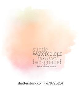 orange watercolor splotch