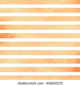 Orange watercolor stripes. Watercolor striped background. Orange stripes on white background watercolor painting