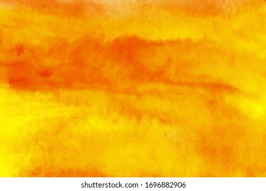 orange watercolor vector background. Abstract hand paint square stain backdrop.