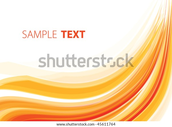 Orange wave. Vector