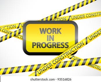 orange work in progress board