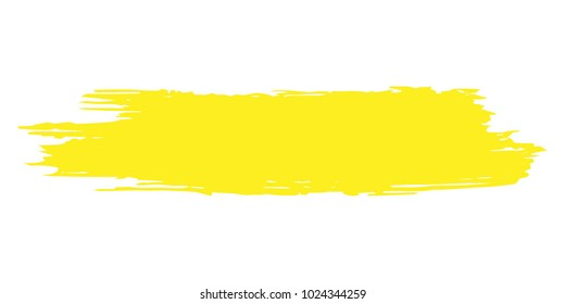 Orange, Yellow Brushes Grunge Paint stripe. Distressed Vector Brush Stroke. Color Modern Textured banner. Dirty Artistic Design Elements. Creative Design Elements. Perfect For Logo, Banner, Icon.