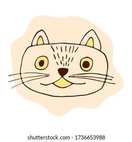 Cartoon Kawaii Cat Stock Illustrations Images Vectors