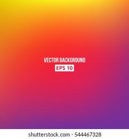 Orange, yellow, purple blur gradient. Vector, eps10.