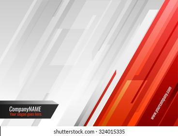 Orange-gray vector background with slashes