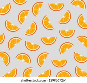 Oranges pattern. Vector illustration