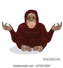 orangutan cartoon vector illustration design isolated on white background