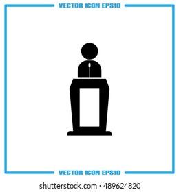 Orator icon vector illustration
