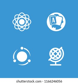 Orbit icon. collection of 4 orbit filled icons such as globe. editable orbit icons for web and mobile.