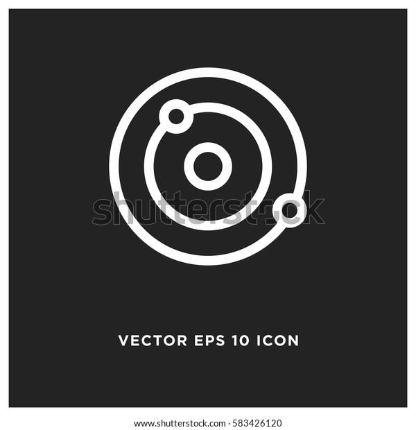 Orbit vector icon