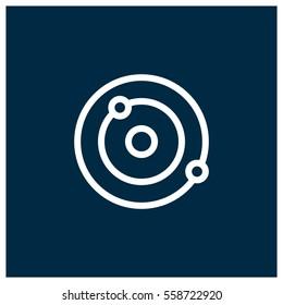 Orbit vector icon, solar system symbol. Modern, simple flat vector illustration for web site or mobile app