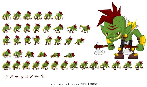 Orc animated character for creating fantasy video games